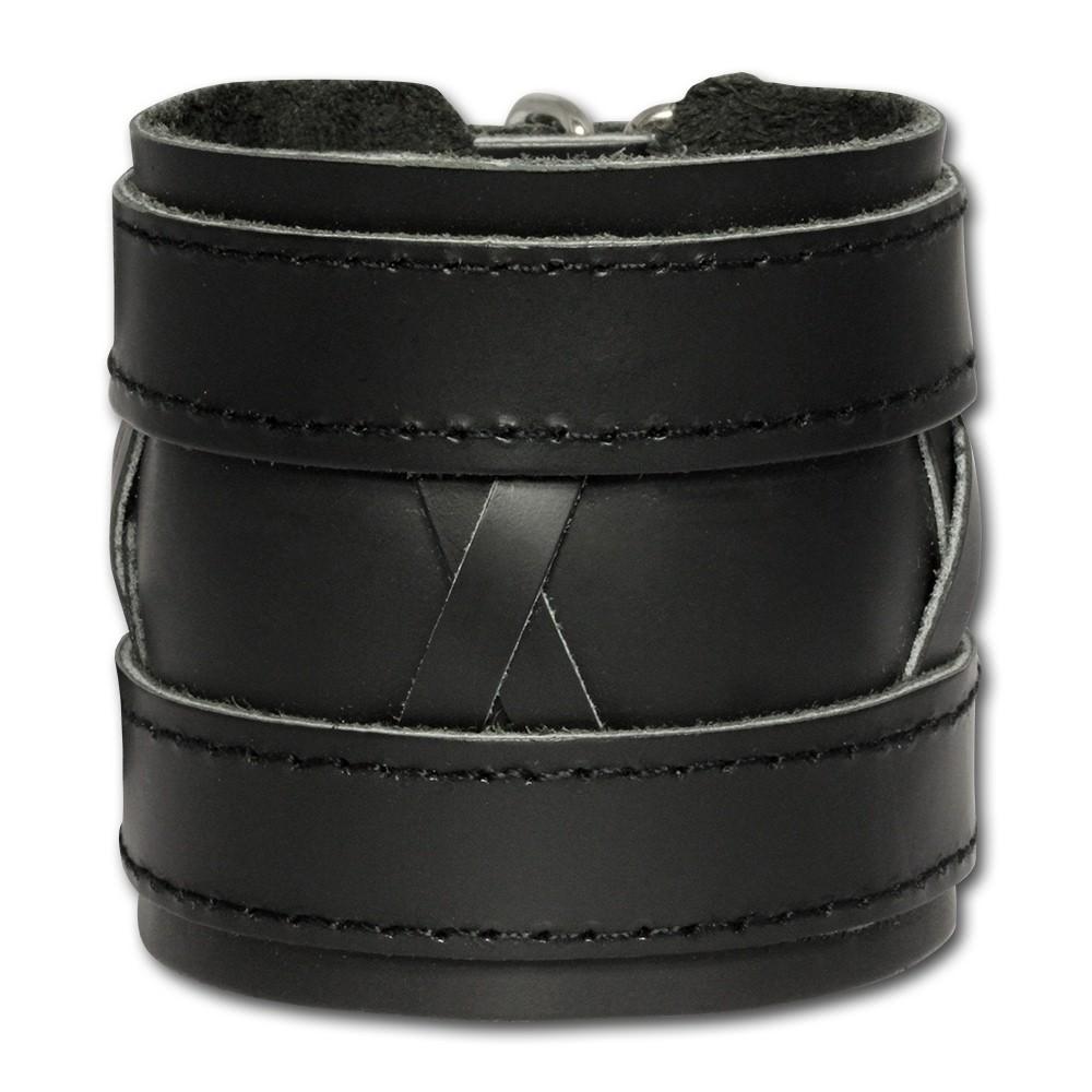 SilberDream Lederarmband schwarz Herren Leder Armband LA0464S