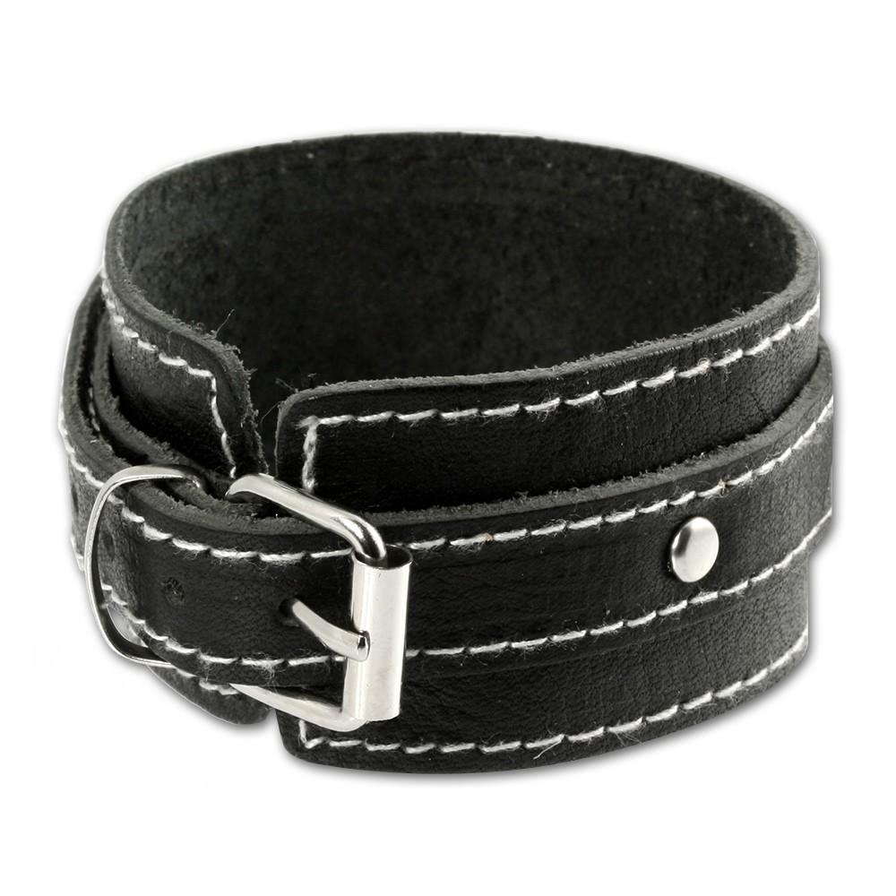 SilberDream Lederarmband schwarz Herren Leder Armband LA1189S