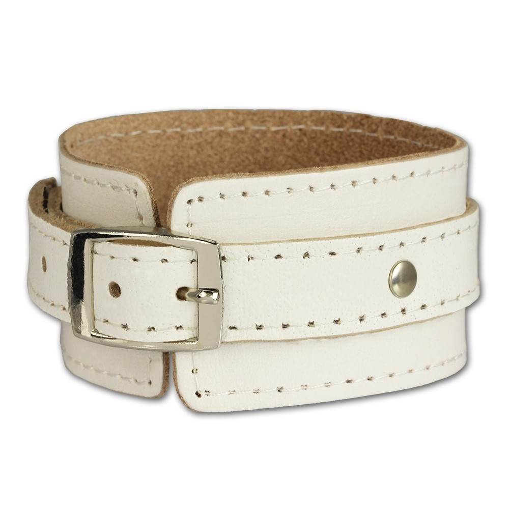 SilberDream Lederarmband weiß Damen Leder Armband LA1189W