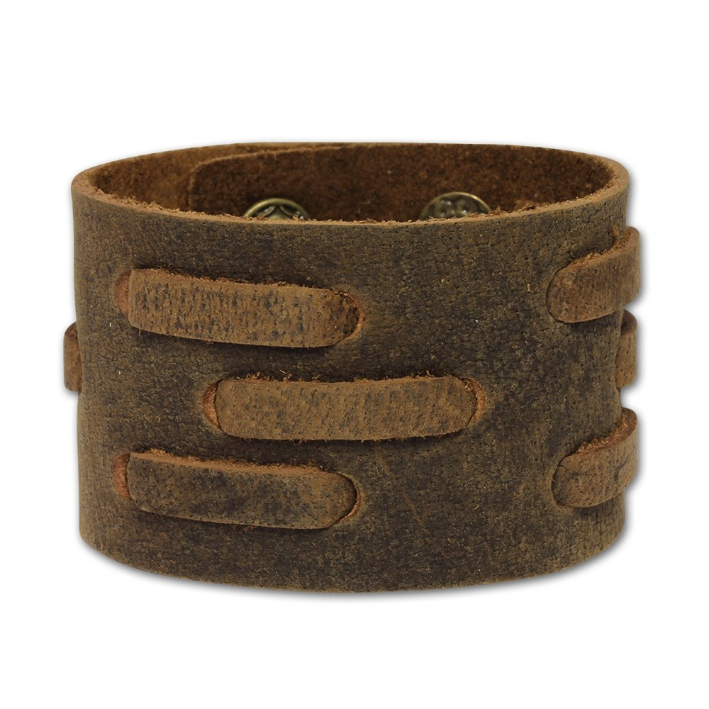 SilberDream Lederarmband braun Herren Leder Armband LA1821
