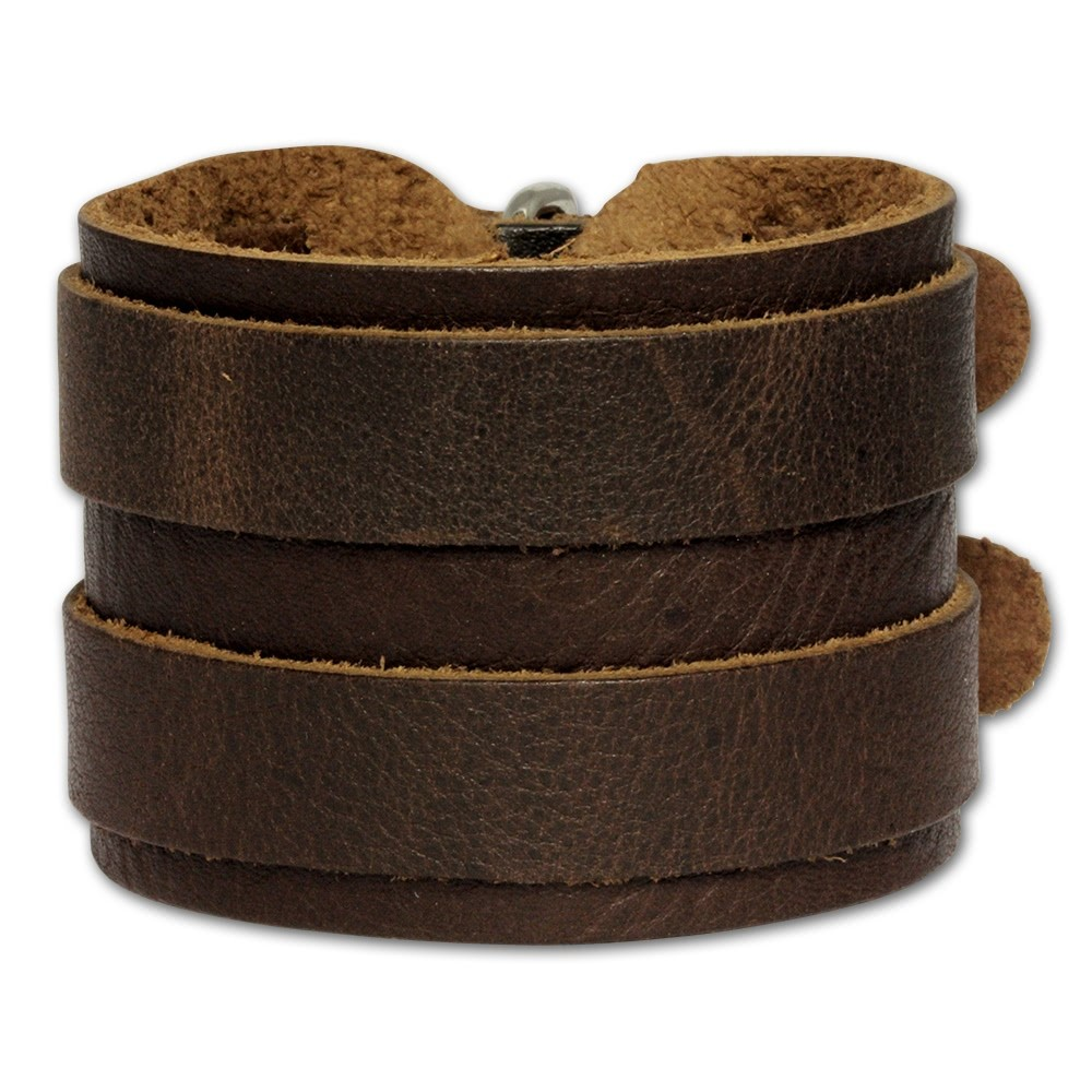 SilberDream Lederarmband braun Herren Leder Armband LA2247B