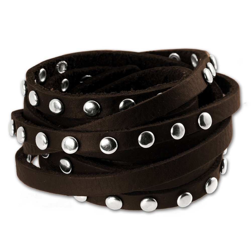 SilberDream Lederarmband brown Damen Leder Armband LA2250B