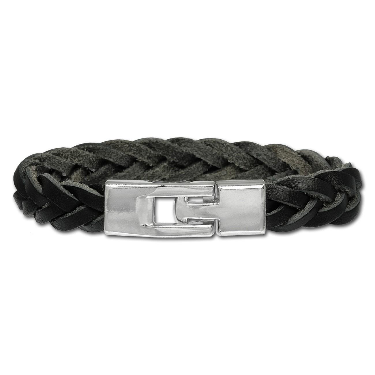SilberDream Lederarmband schwarz Herren Leder Armband LA3002S