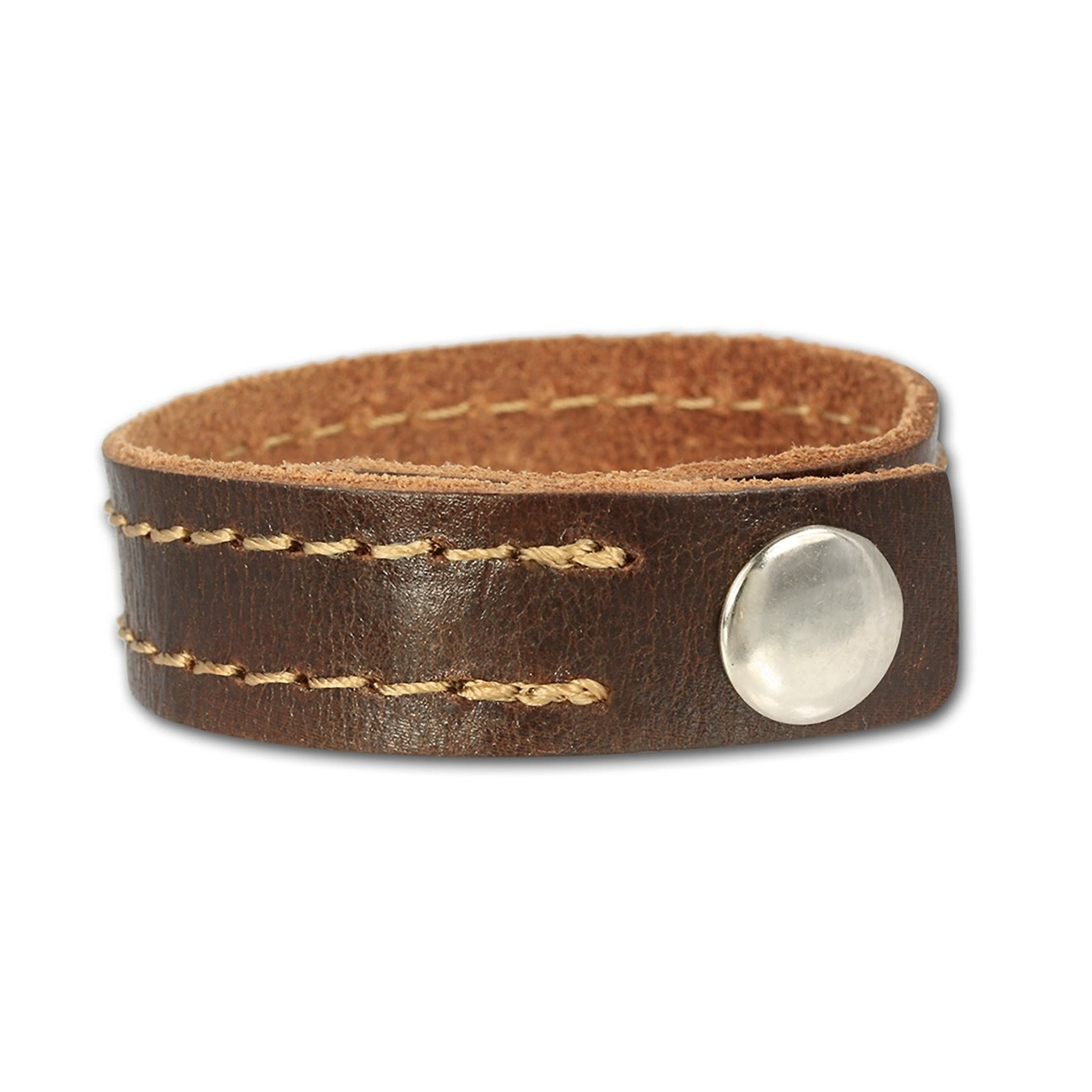 SilberDream Lederarmband braun Leder Armband LA3262B