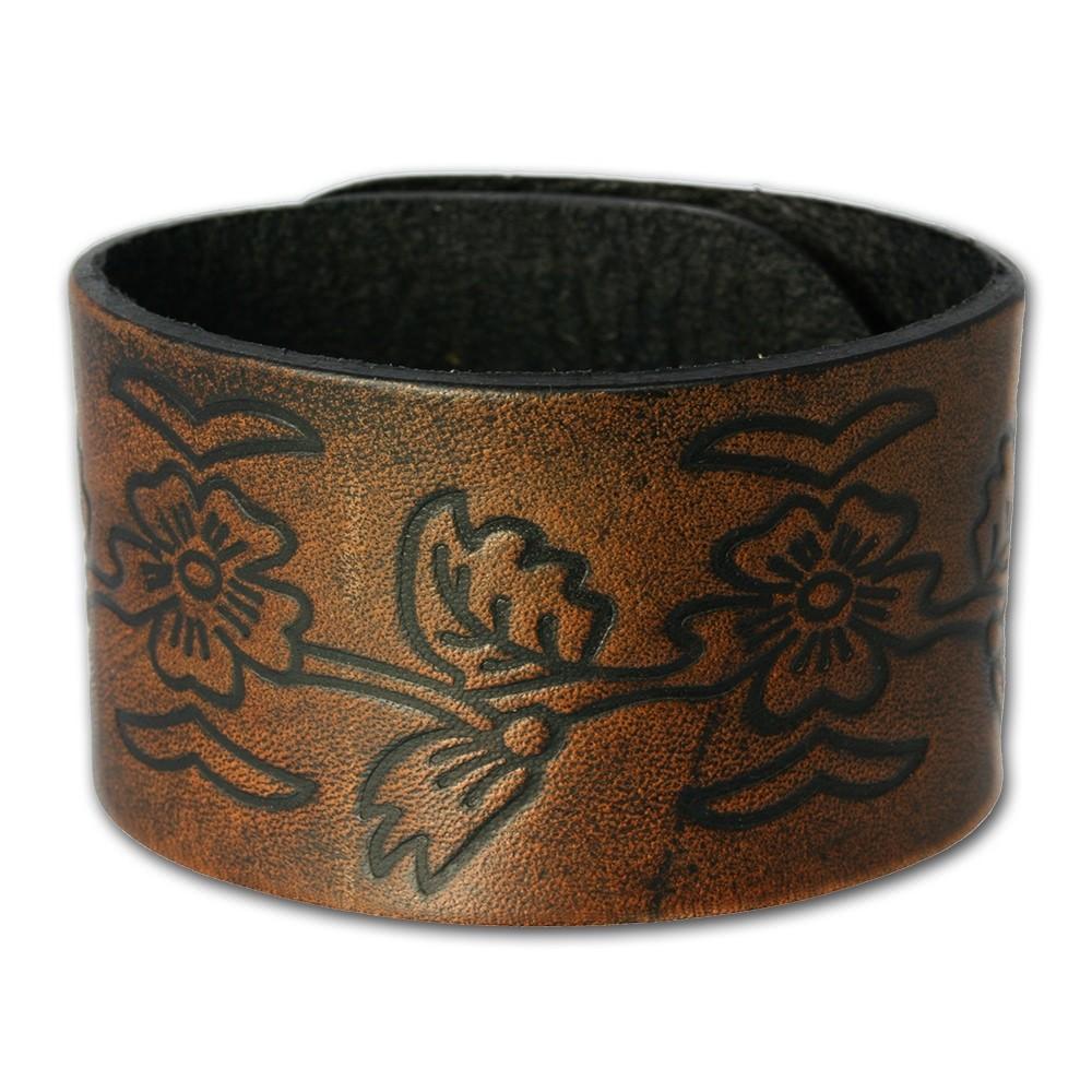 SilberDream Lederarmband braun Leder Armband LA3271B