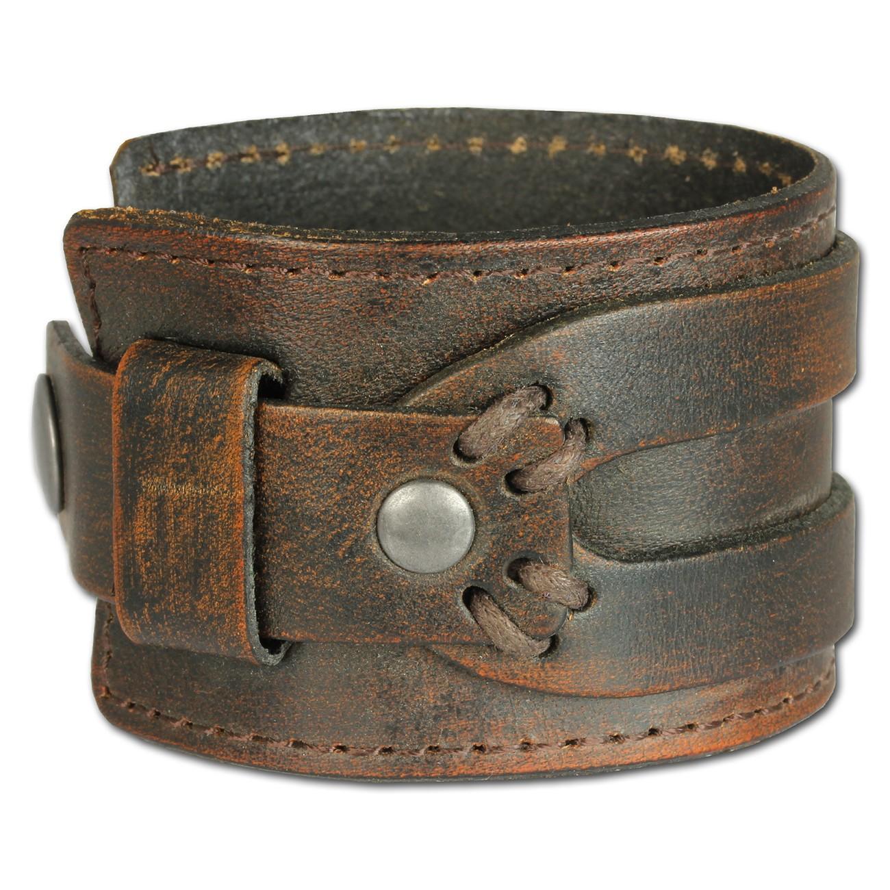 SilberDream Lederarmband Antik in braun, Herren Leder Armband LA4293B