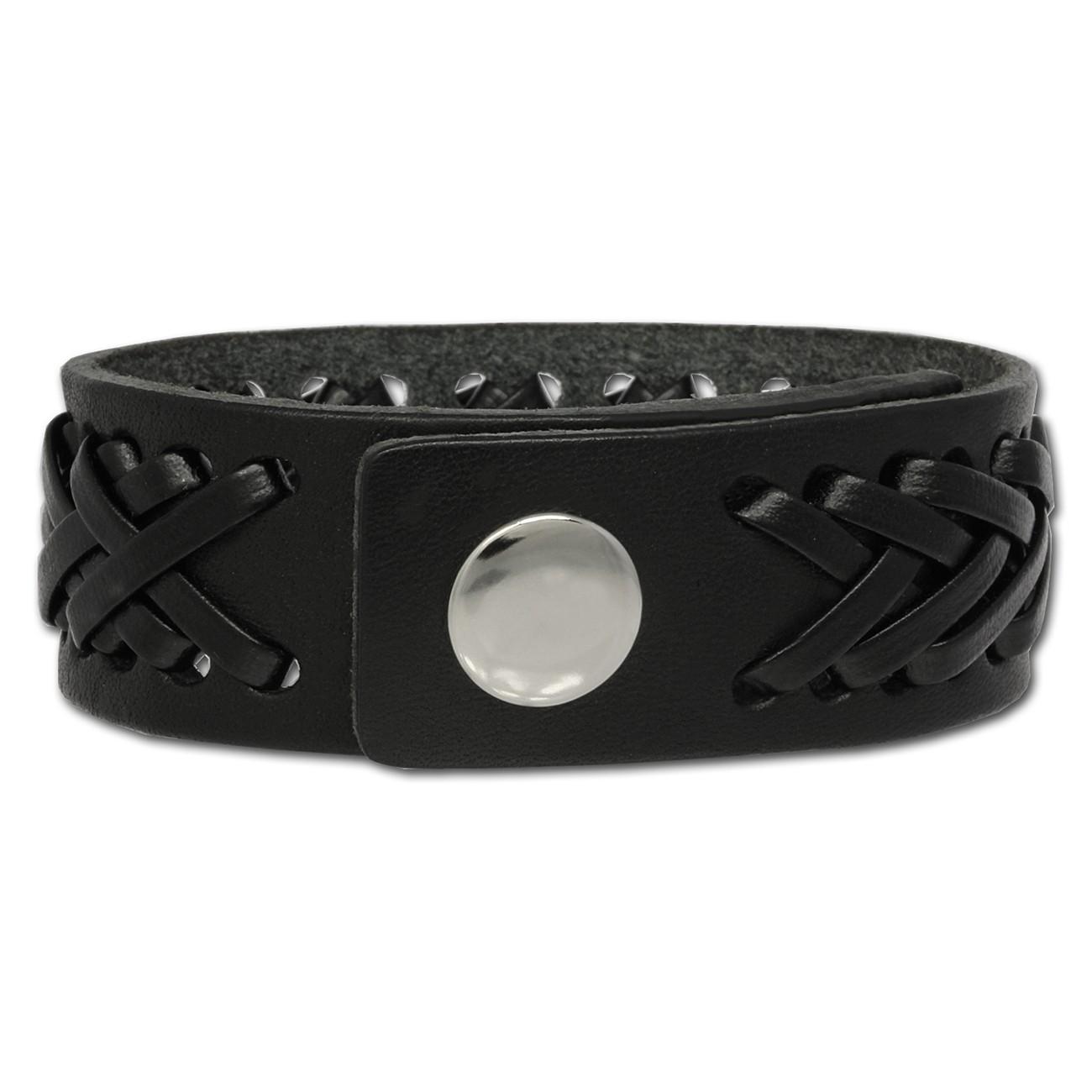 SilberDream Lederarmband schwarz Herren Leder Armband LA5350S