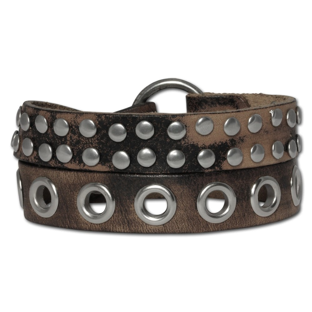 SilberDream Lederarmband unisex braun Nieten Leder Armband LA5645B