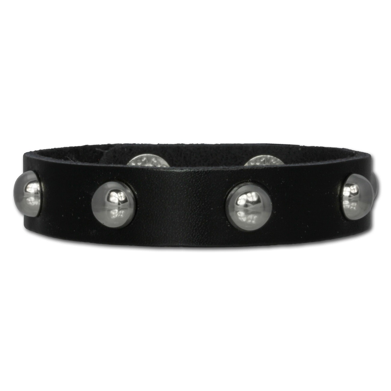 SilberDream Nieten-Lederarmband schwarz Unisex Leder Armband LAC561S