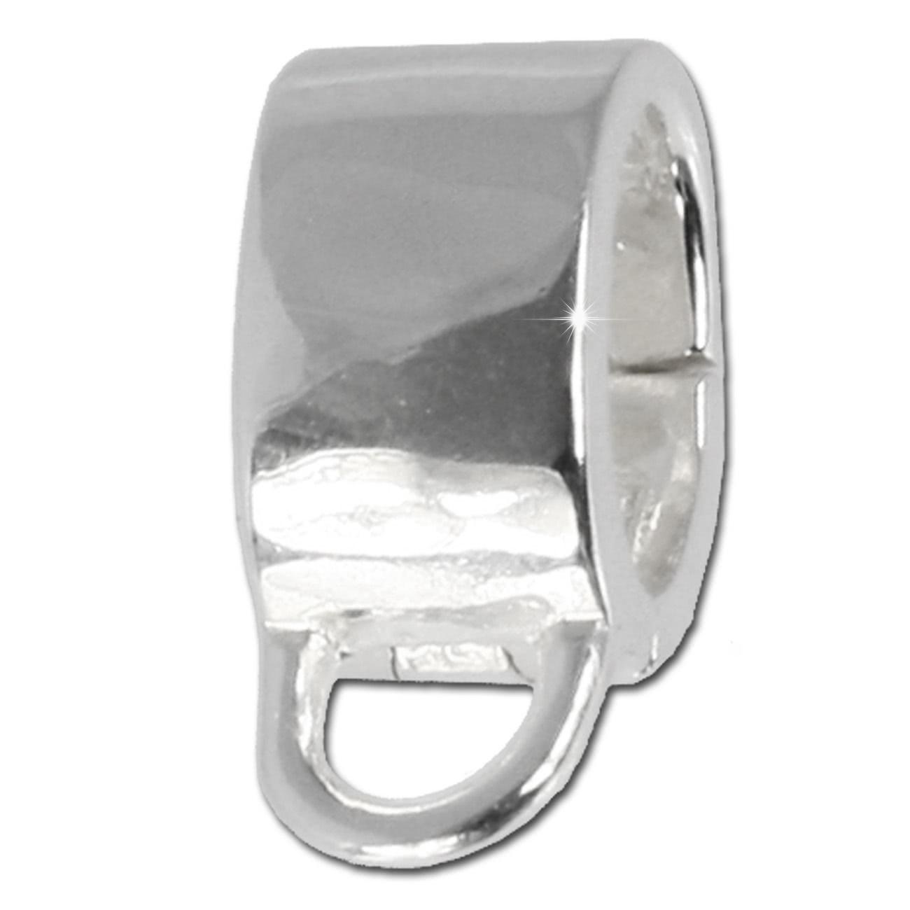 SilberDream Clip Silber für Charms an Nappa Leder Armband LS0100