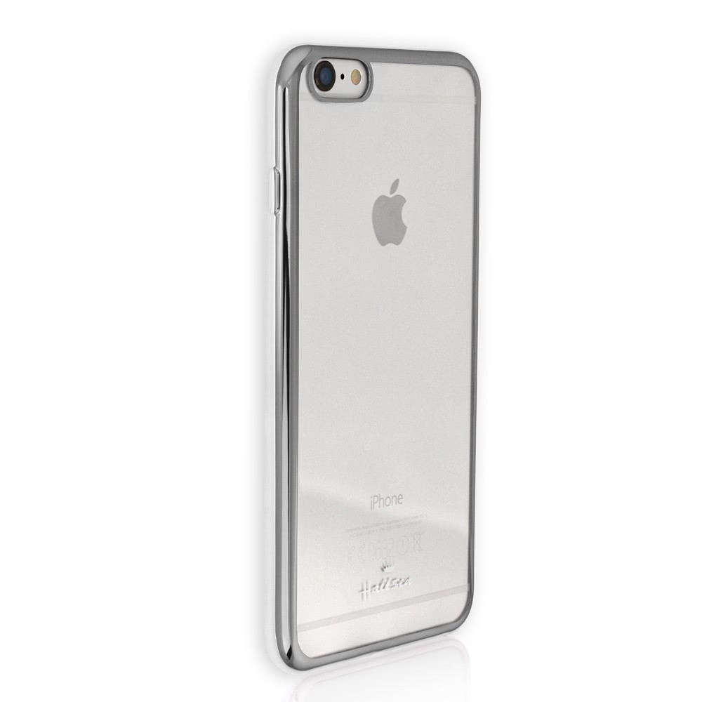 Handyhülle iPhone 6 6S silber Kunststoff Case Schutzhülle DrachenLeder OMG100W