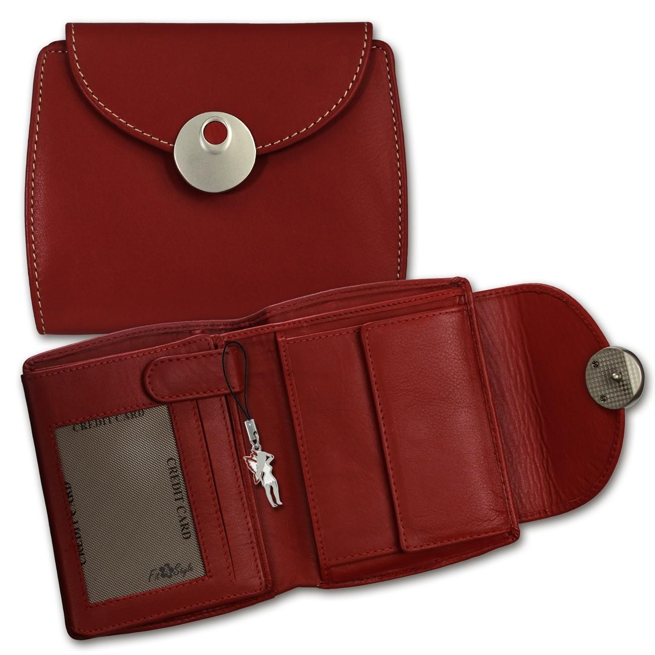 DrachenLeder Geldbörse rot Damen Portemonnaie Leder OPD105R