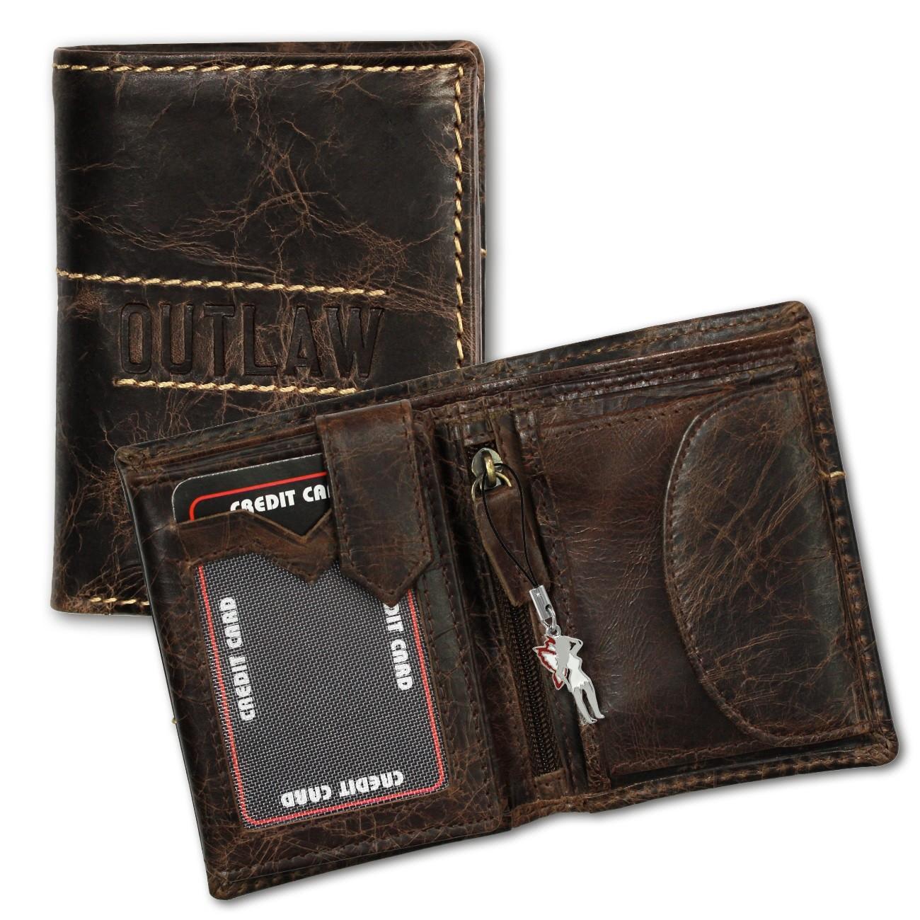 DrachenLeder Geldbörse Leder braun Geldbeutel Portemonnaie Brieftasche OPD106C
