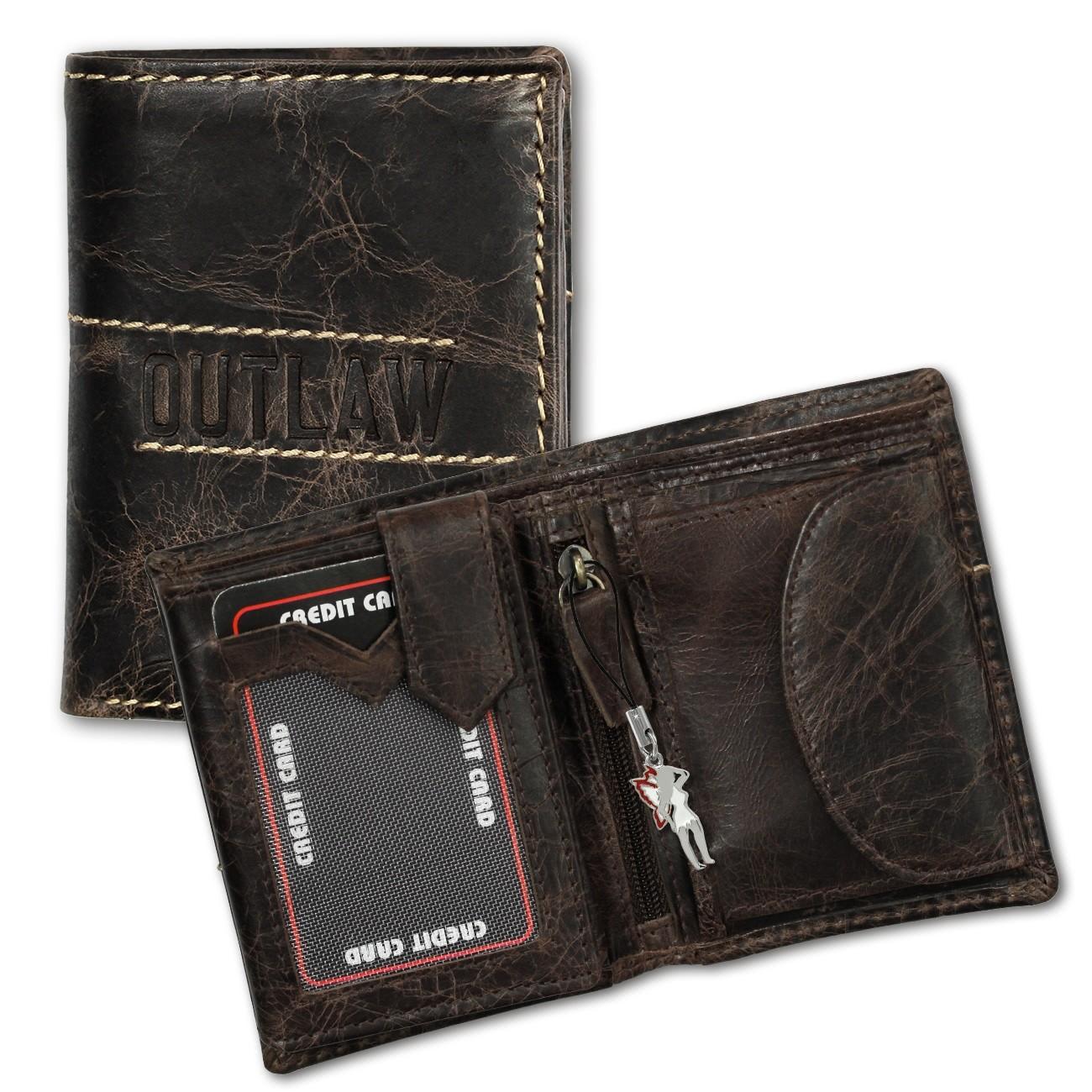 DrachenLeder Geldbörse Leder braun Geldbeutel Portemonnaie Brieftasche OPD106N