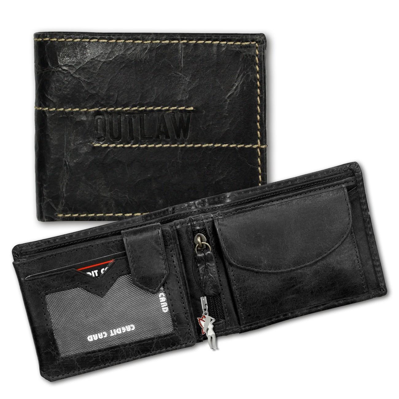 DrachenLeder Geldbörse Leder grau Geldbeutel Portemonnaie Brieftasche OPD107K