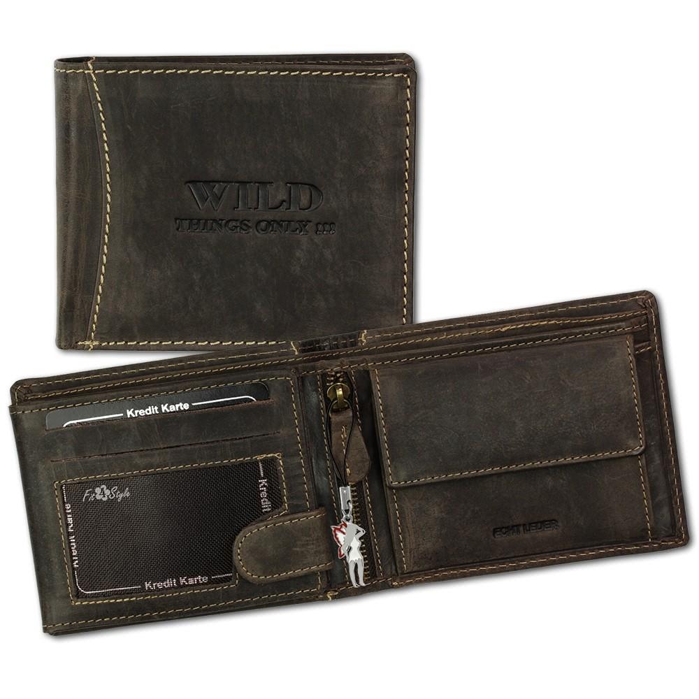 DrachenLeder Geldbörse braun Portemonnaie Leder OPJ103N