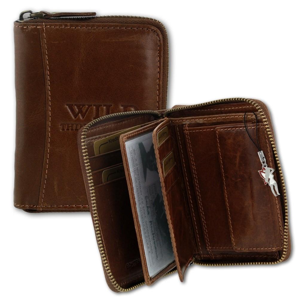 WildThingsOnly Herren Geldbörse braun Leder Portemonnaie Hochformat OPJ108N