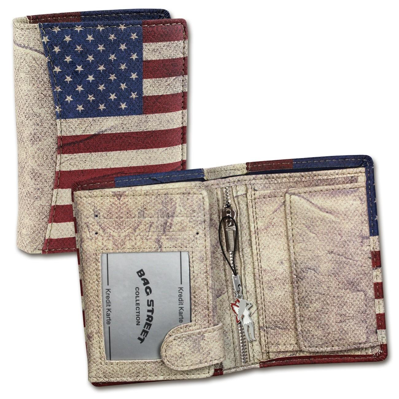 Geldbörse Kunstleder mehrfarbig Portemonnaie USA Wild Things Only OPJ117F