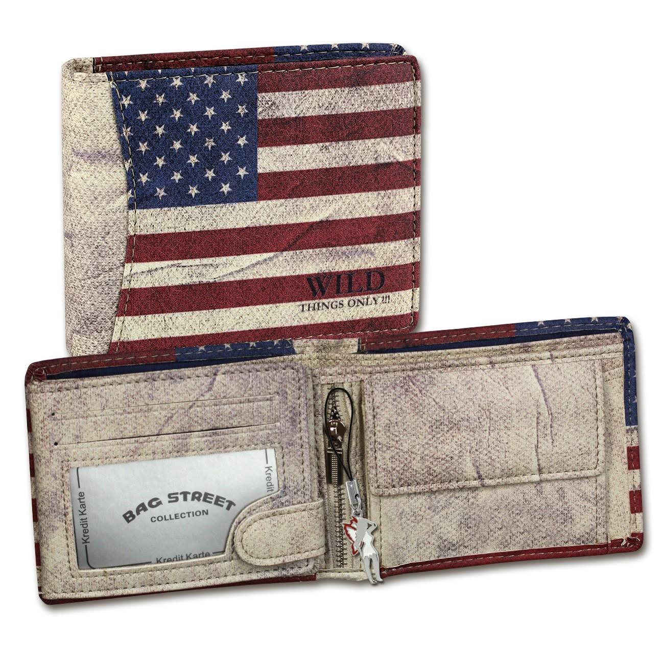 Geldbörse Kunstleder mehrfarbig Portemonnaie USA Wild Things Only OPJ118F
