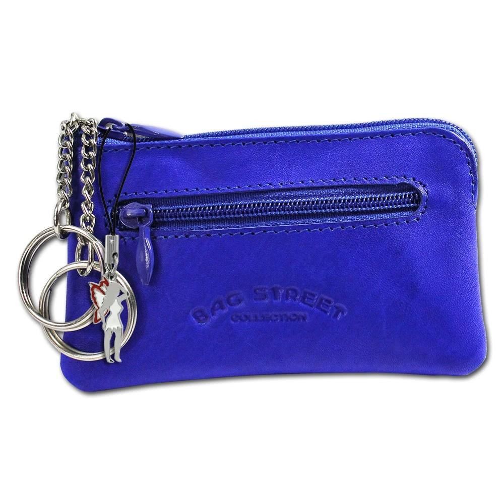 Schlüsseltasche blau Echtleder, glattes Leder Etui Bag Street OPJ900B
