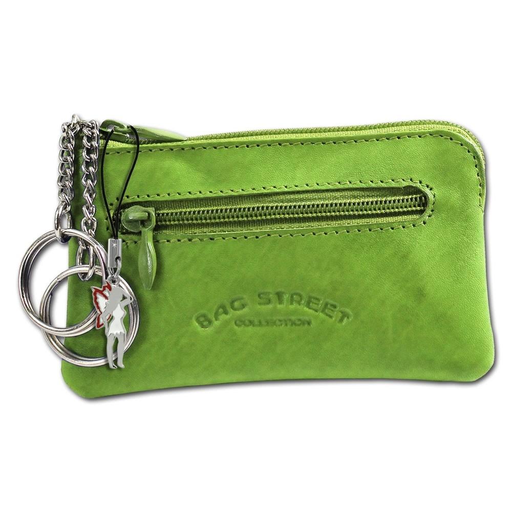 Schlüsseltasche grün Echtleder, glattes Leder Etui Bag Street OPJ900G