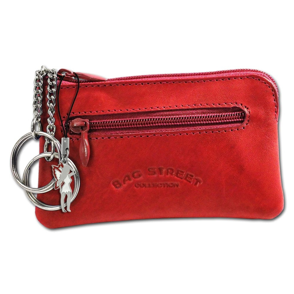 Schlüsseltasche rot Echtleder, glattes Leder Etui Bag Street OPJ900R