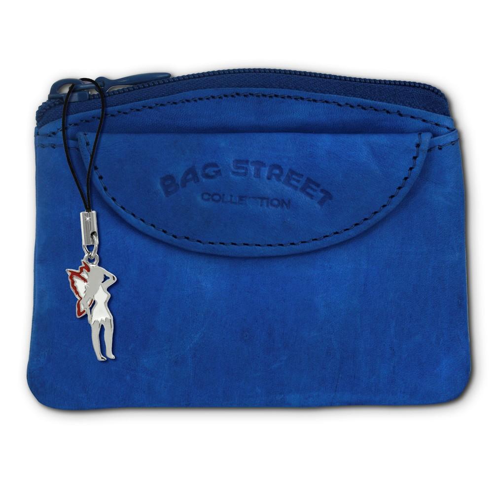 SilberDream Schlüsseltasche blau Echtleder, glattes Leder Etui OPJ901B