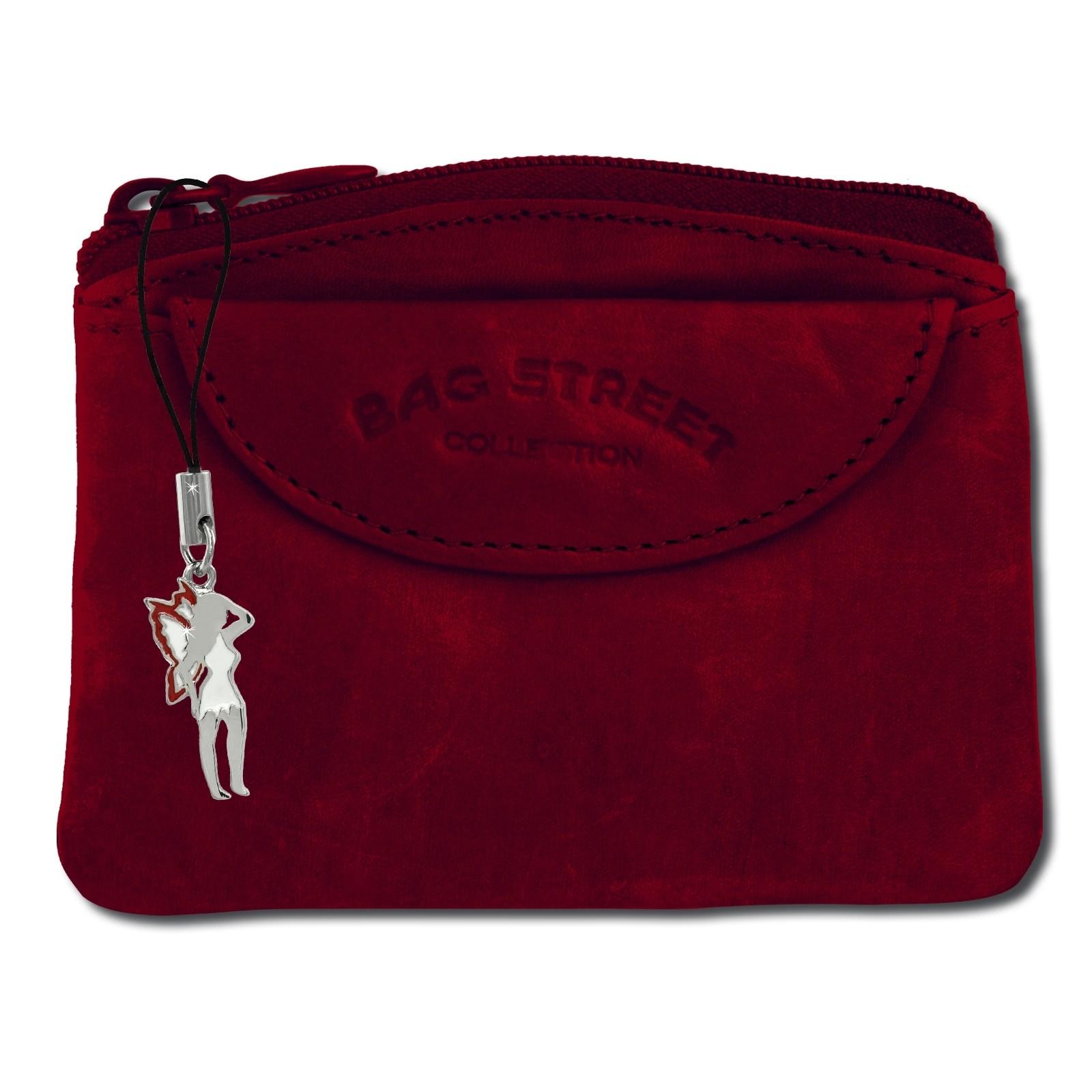 SilberDream Schlüsseltasche rot Echtleder, glattes Leder Etui OPJ901R