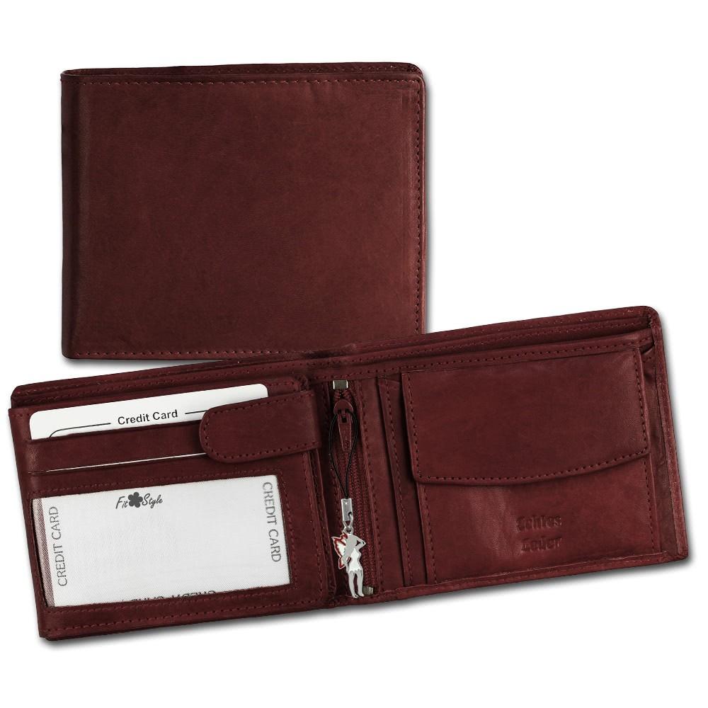 SilberDream Geldbörse Querformat dunkelrot Echtleder-Portemonnaie OPR101D