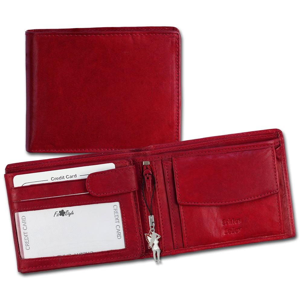 SilberDream Geldbörse Querformat rot Echtleder-Portemonnaie OPR101R