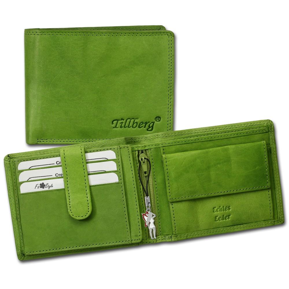 SilberDream Geldbörse grün Echtleder, glatt-Portemonnaie OPR105G