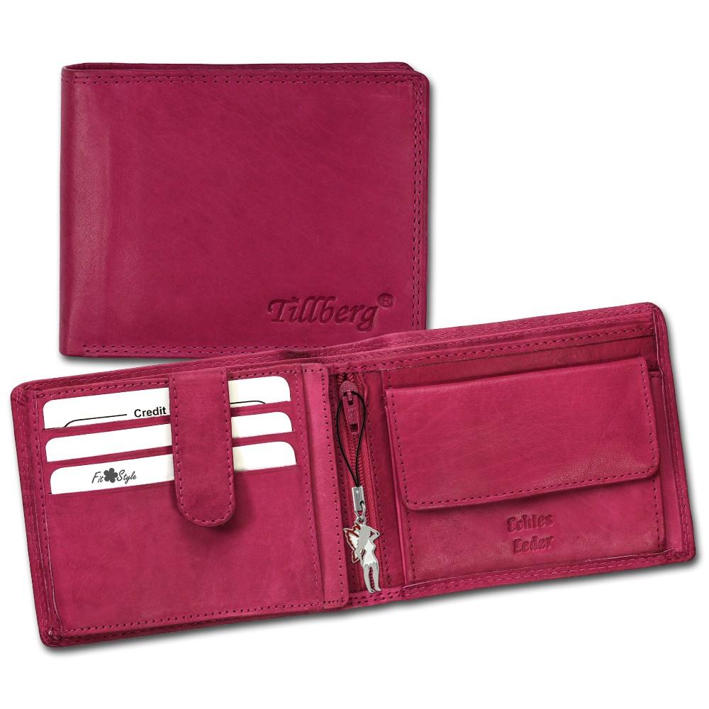 SilberDream Geldbörse pink Echtleder, glatt-Portemonnaie OPR105P