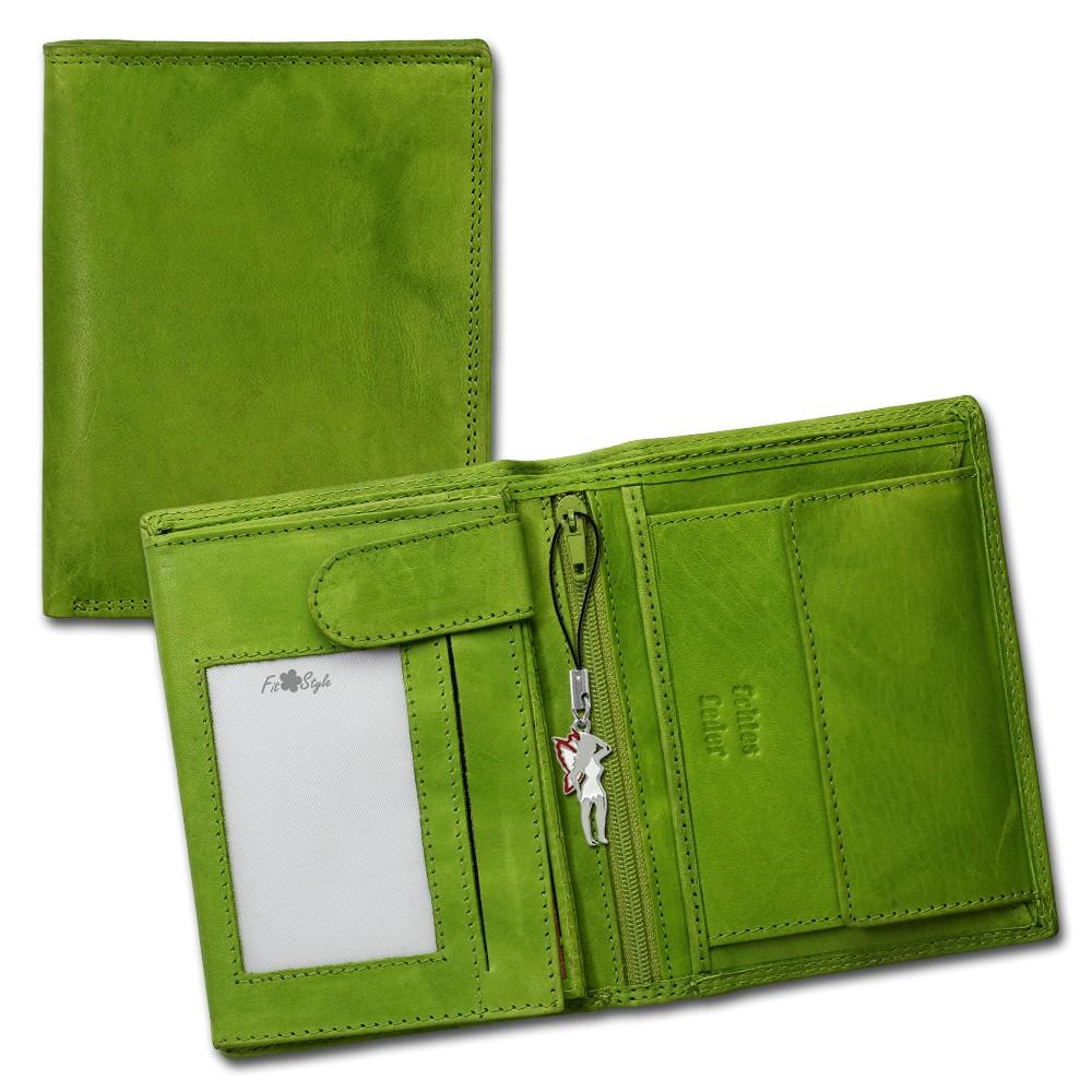SilberDream Geldbörse grün Echtleder, glatt-Portemonnaie OPR106G