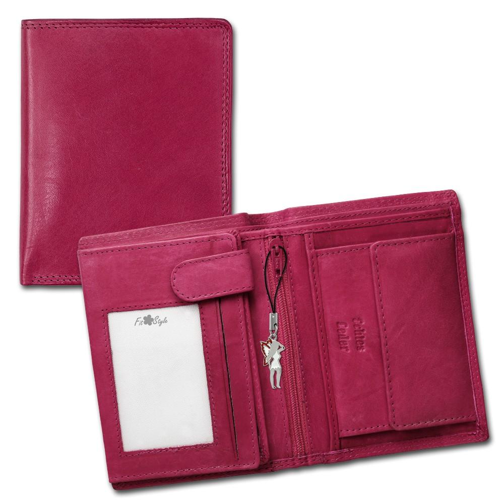 SilberDream Geldbörse pink Echtleder, glatt-Portemonnaie OPR106P