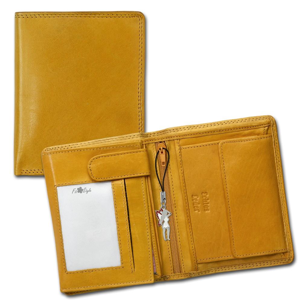 SilberDream Geldbörse gelb Echtleder, glatt-Portemonnaie OPR106Y