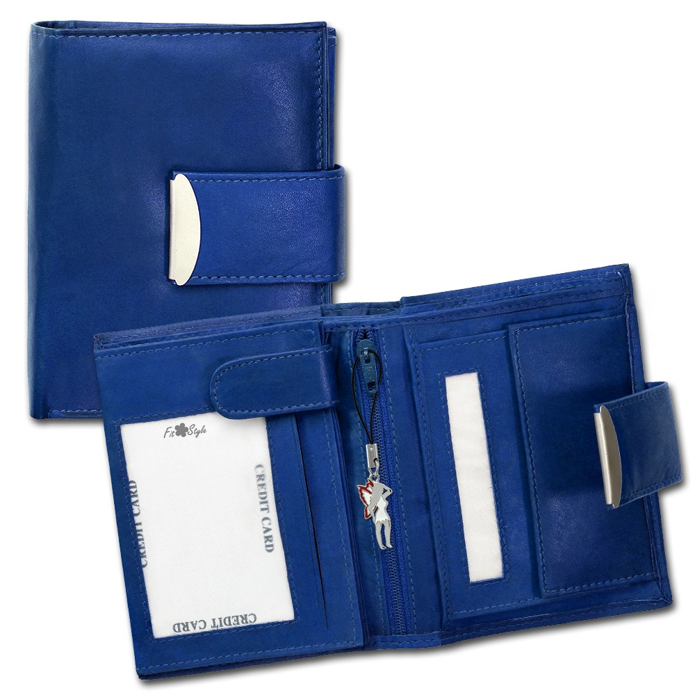 SilberDream Geldbörse blau Echtleder, glatt-Portemonnaie OPR107B