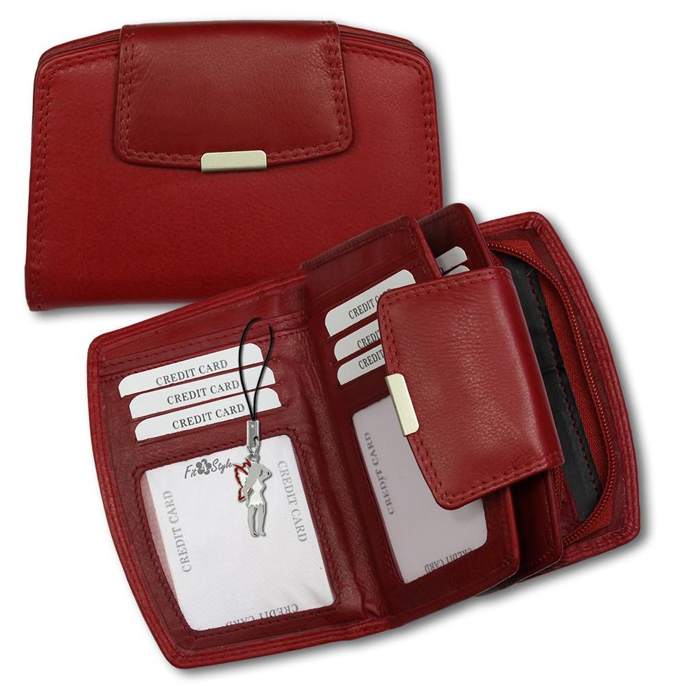 SilberDream Geldbörse rot Echtleder, glatt-Portemonnaie OPR701R
