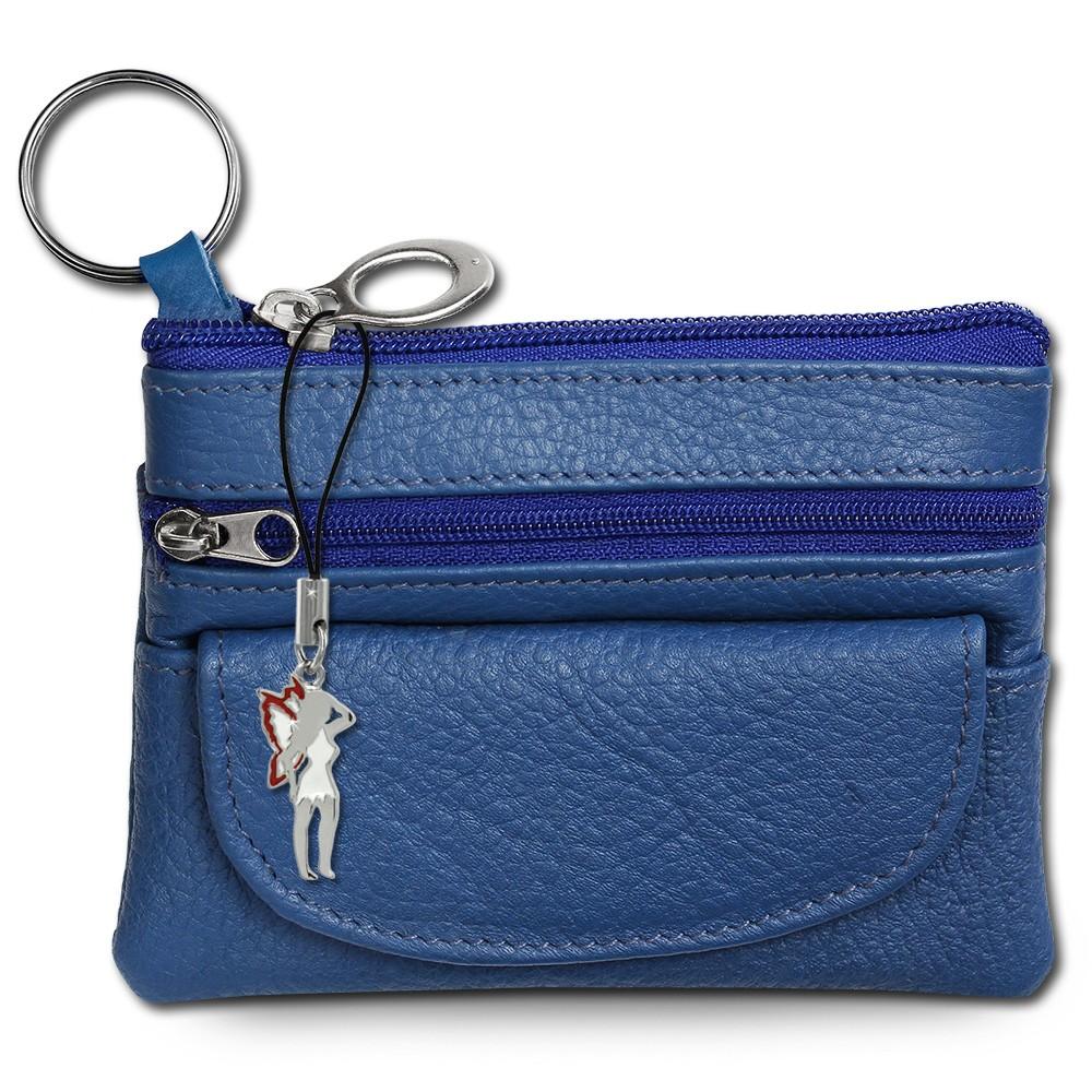 SilberDream Geldbörse blau Echtleder, glatt-Portemonnaie OPR800B