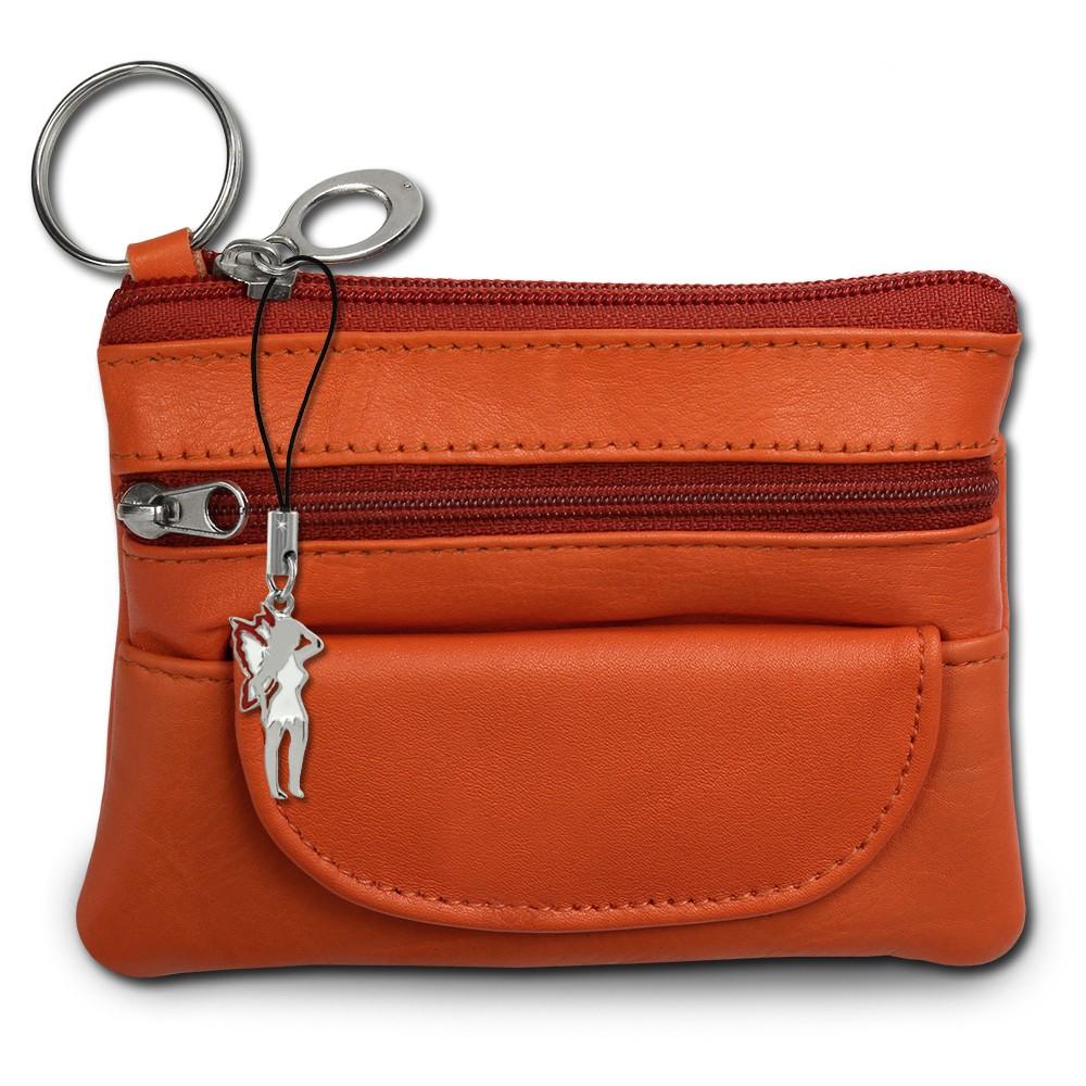 SilberDream Geldbörse orange Echtleder, glatt-Portemonnaie OPR800O