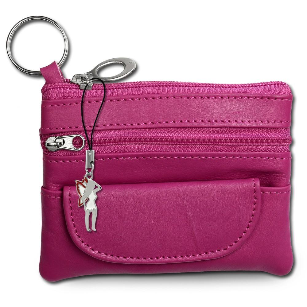 SilberDream Geldbörse pink Echtleder, glatt-Portemonnaie OPR800P
