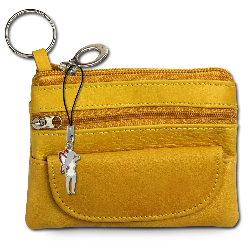 SilberDream Geldbörse gelb Echtleder, glatt-Portemonnaie OPR800Y