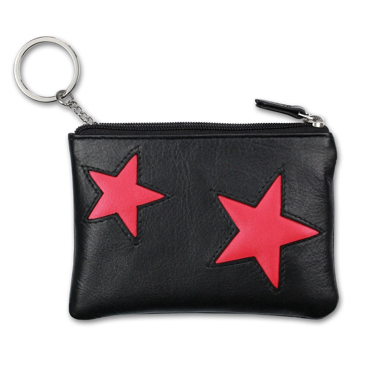 Schlüsseltasche Leder schwarz, pink Schlüsseletui DrachenLeder OPS904P