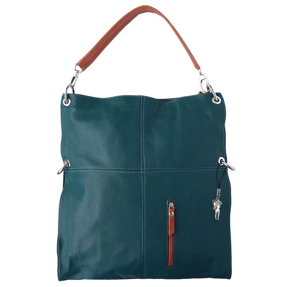 Hobo Bag Umhängetasche blau Leder Damen Schultertasche DrachenLeder OTF102B