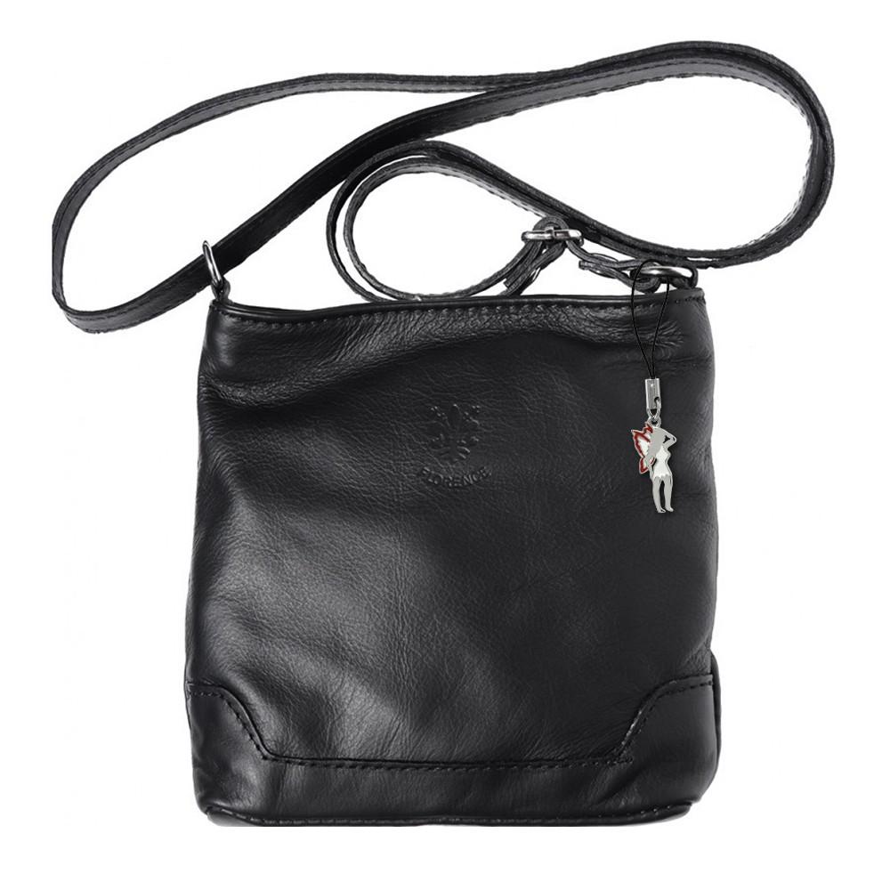 Umhängetasche, Abendtasche Leder schwarz Damen Handtasche DrachenLeder OTF108S