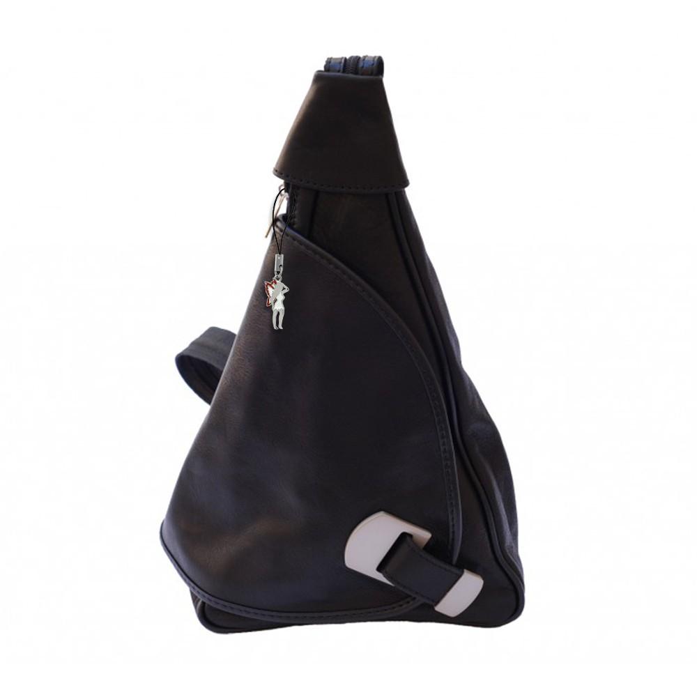 Rucksack Leder schwarz Damen Rucksacktasche Schultertasche DrachenLeder OTF600S