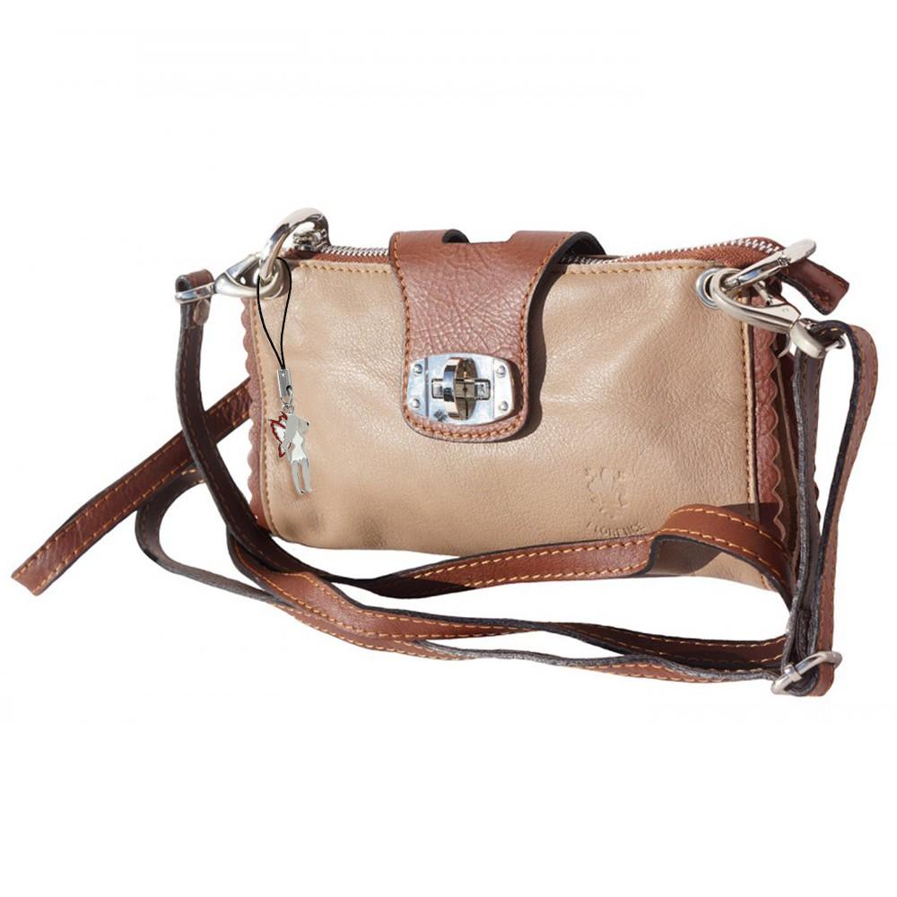 Abendtasche Clutch Wristlet Leder braun Umhängetasche DrachenLeder OTF801C