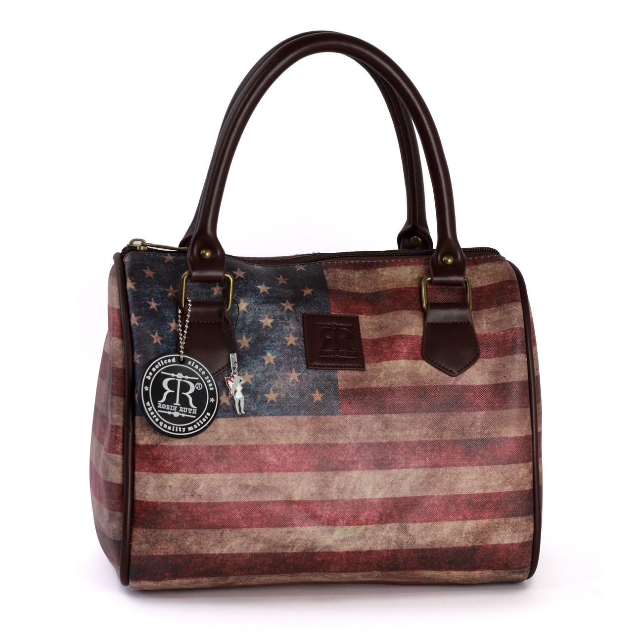 Robin-Ruth Handtasche Kunstleder mehrfarbig Elegante Vintage USA Tasche OTG103F