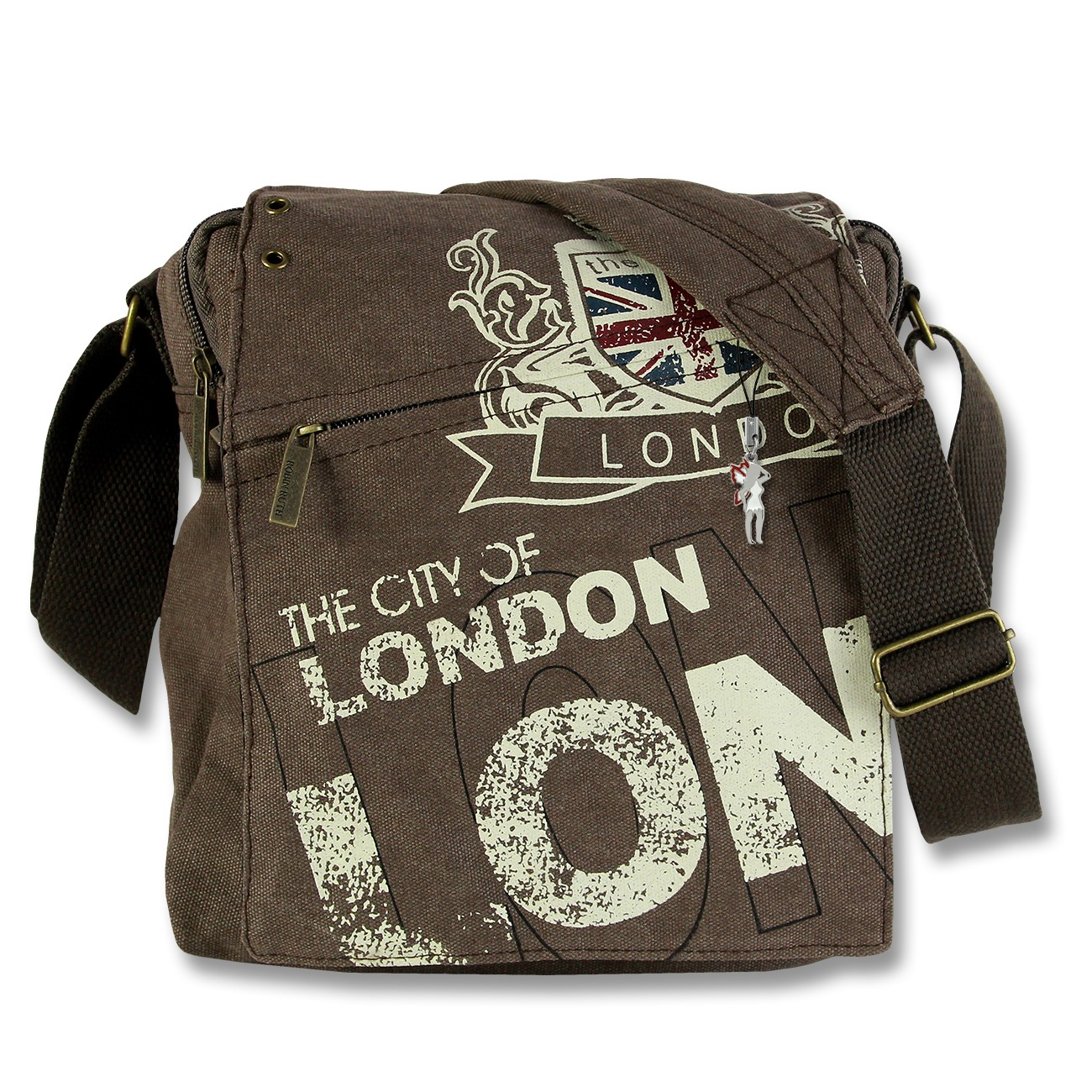 Umhängetasche Canvas braun London Crossover Messenger Robin Ruth OTG202N
