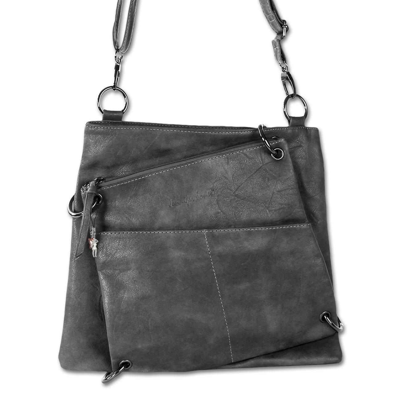 Umhängetasche Abendtasche Kunstleder grau Damentasche Jennifer Jones OTJ138K