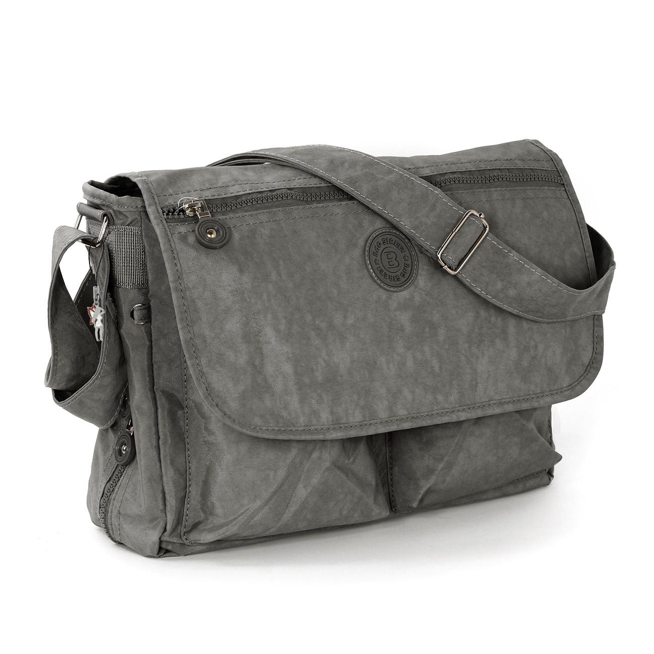 Schultertasche Nylon grau Cross-Body Umhängetasche Bag Street OTJ203K